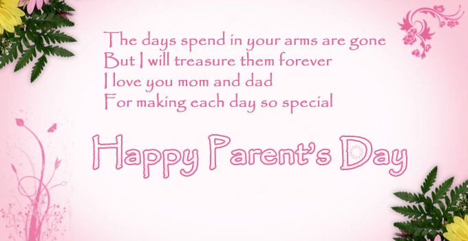 Happy Parents Day Greeting Cards Quotes