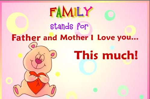 Happy Parents Day Greeting Cards for Kids