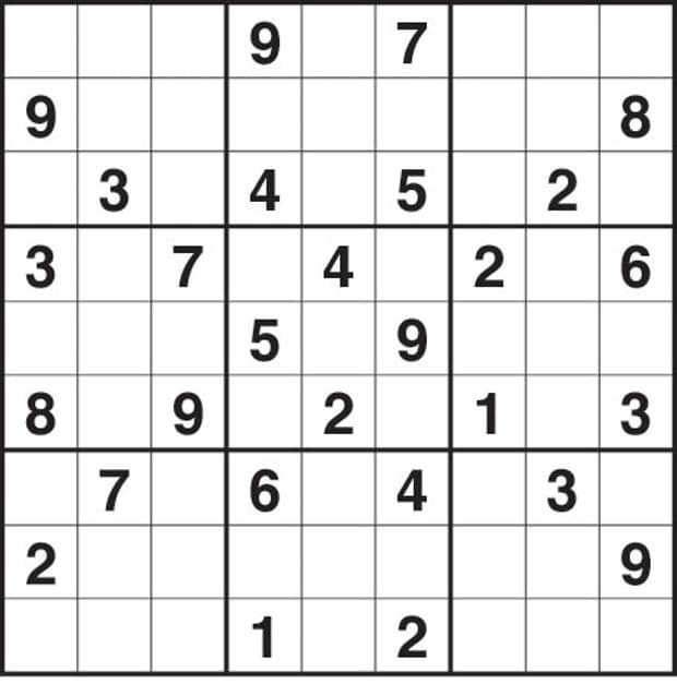 Hard Sudoku Printable Puzzle
