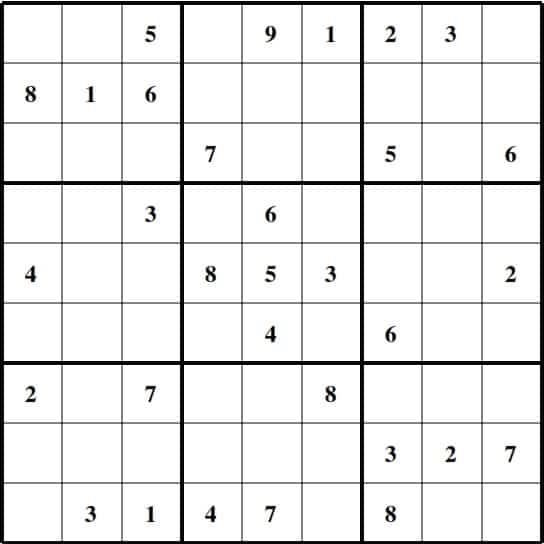Hard Sudoku Puzzle