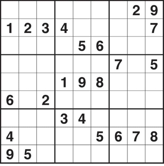 Hard Sudoku Puzzles Print