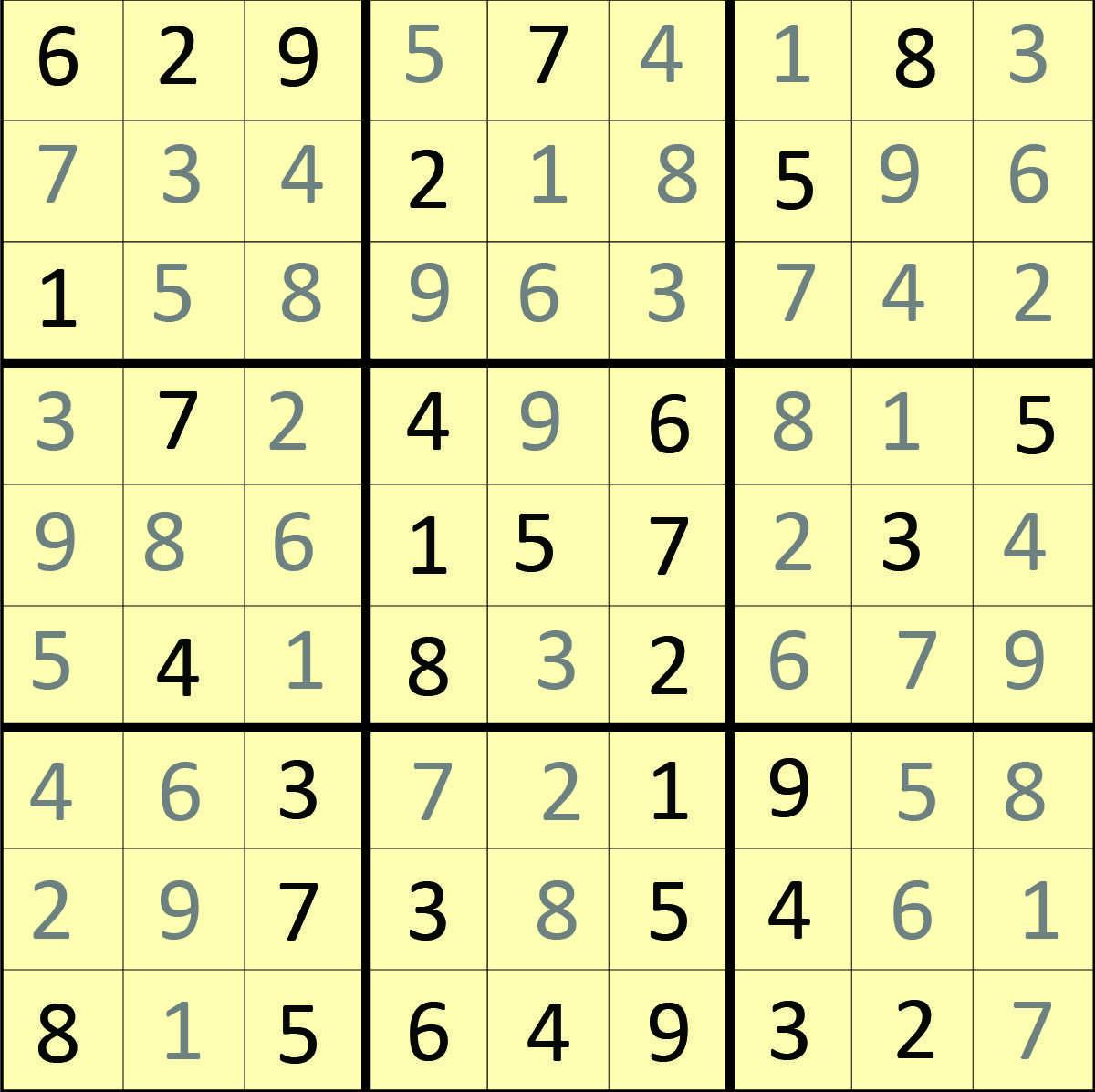 Hard Sudoku With Answers