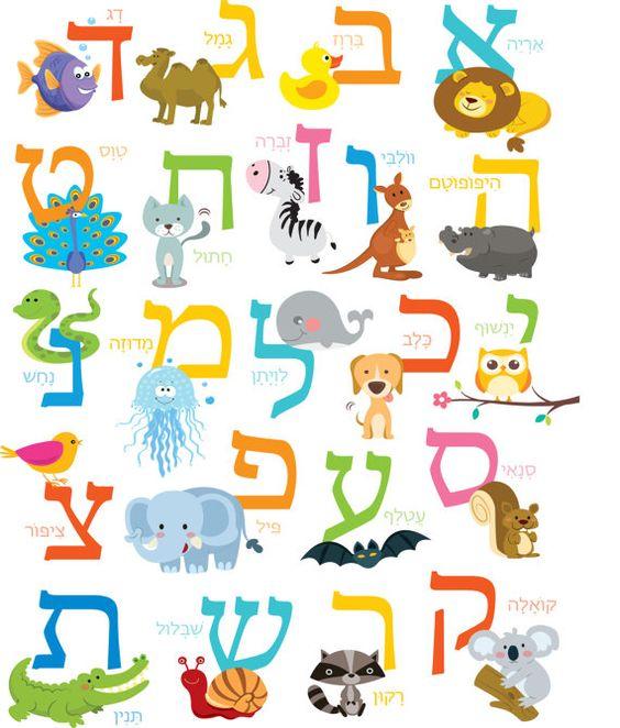 Hebrew Alphabet Art