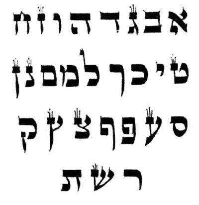 Hebrew Alphabet Font