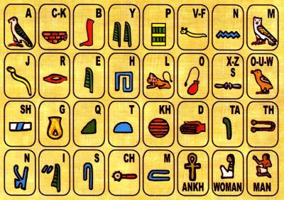 Hieroglyphics Alphabet Font