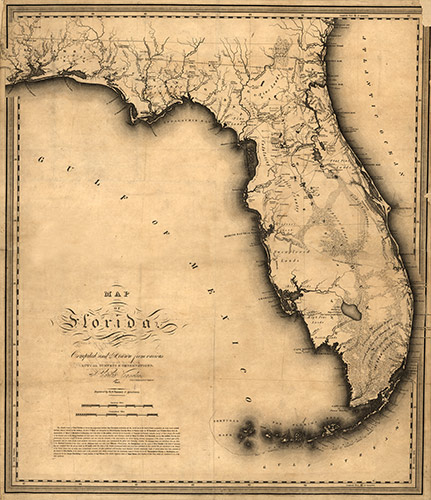 Historical Map of Florida