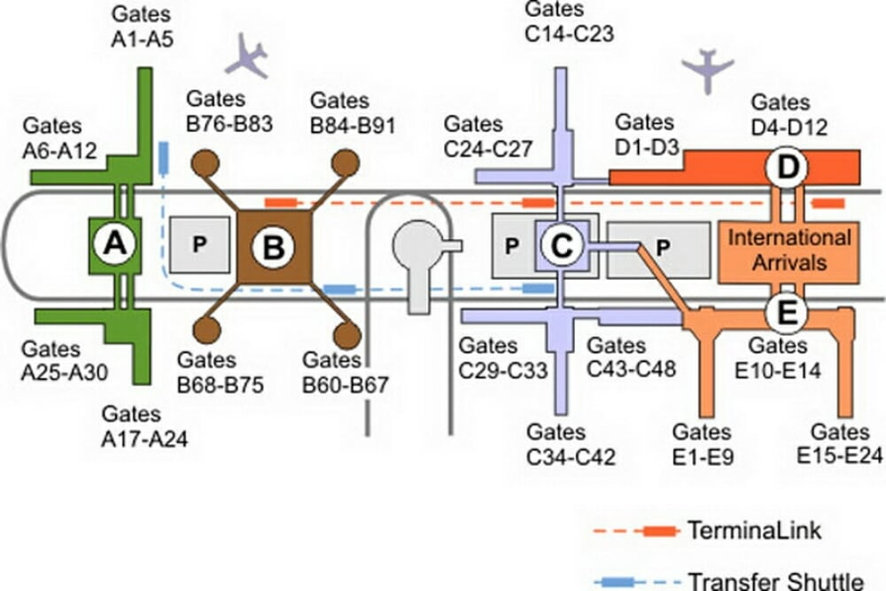 Houston Map Airport