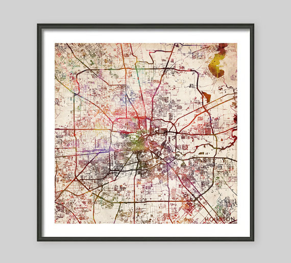 Houston Map Art
