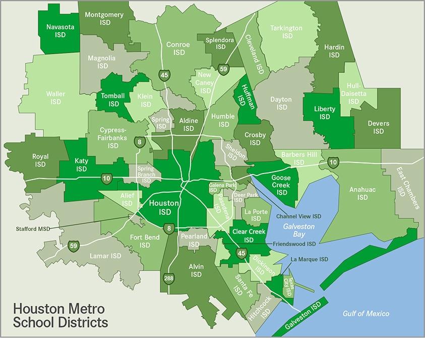Houston Map Graphic