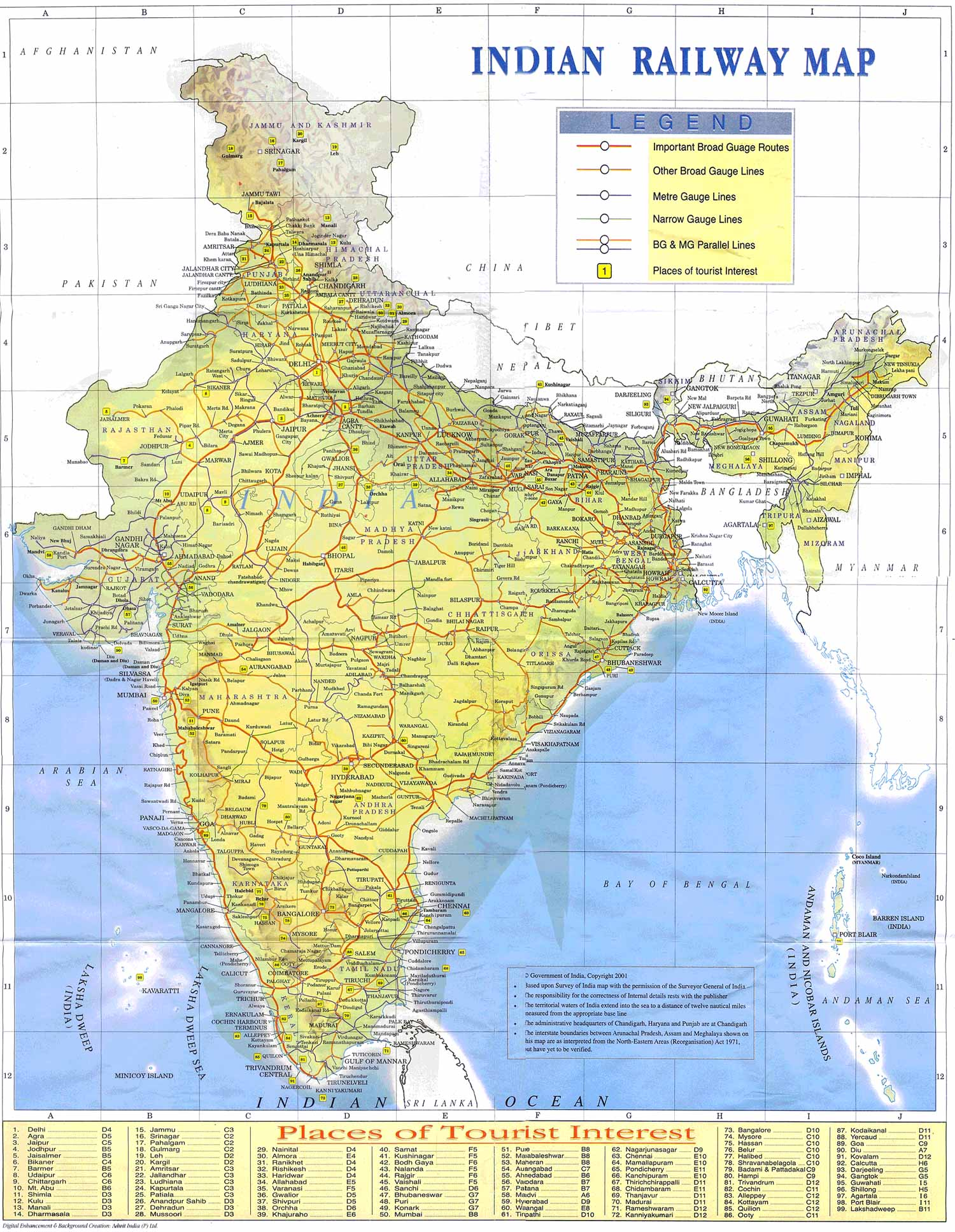 India Road Map Image