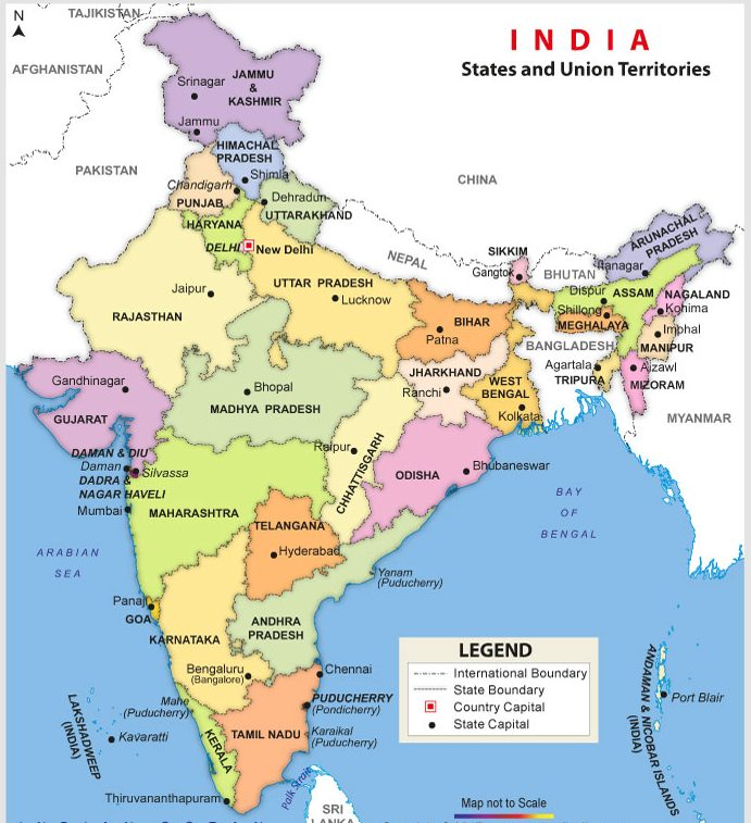 India Road Map With Cities