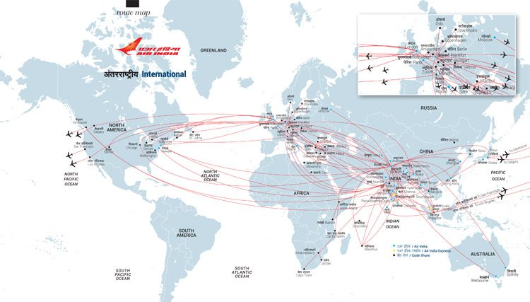 International Flight Map
