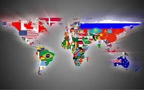 International Map Wallpaper