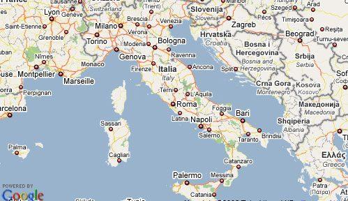Italy Map Google