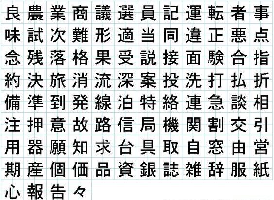 Kanji Language Alphabet