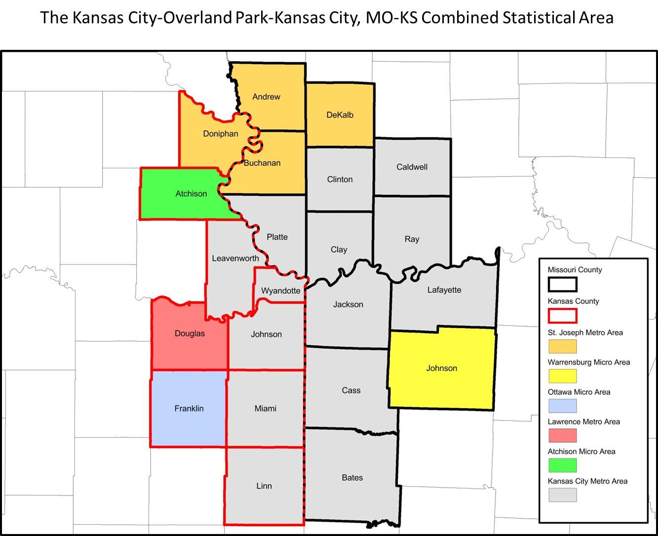 Kansas City County Map