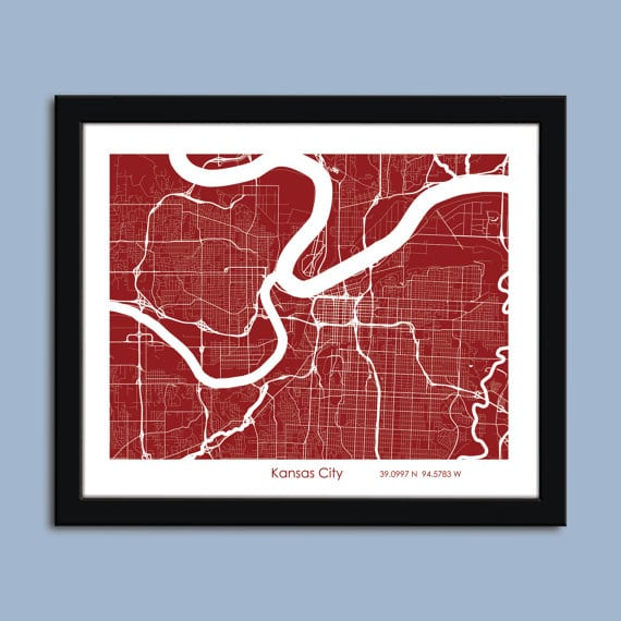 Kansas City Map Art