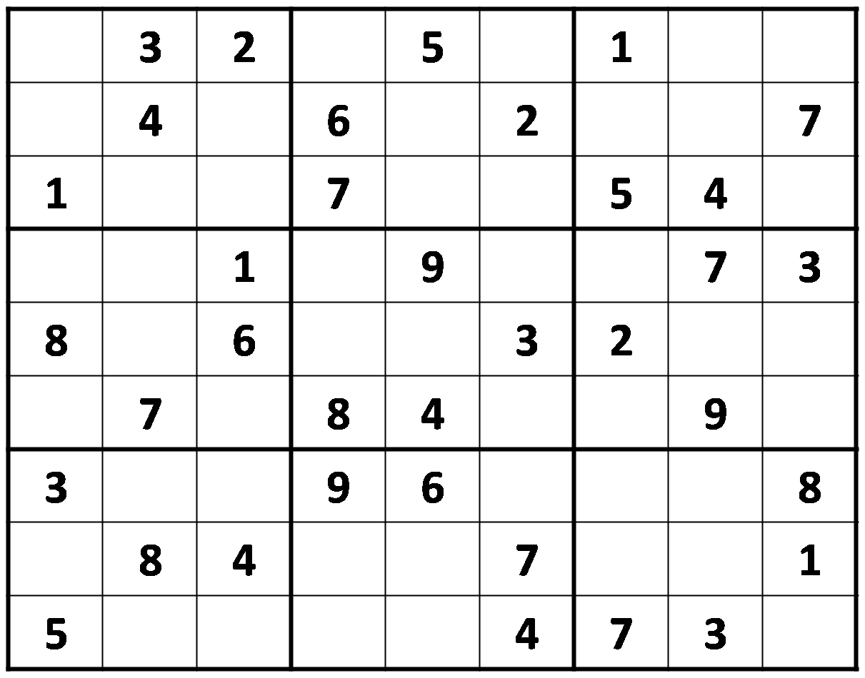 Kids Sudoku Print