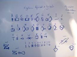 Kryptonian Alphabet Handwritten