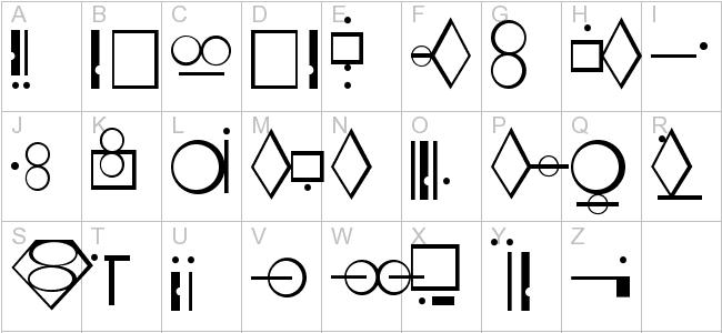 Kryptonian Alphabet Letters