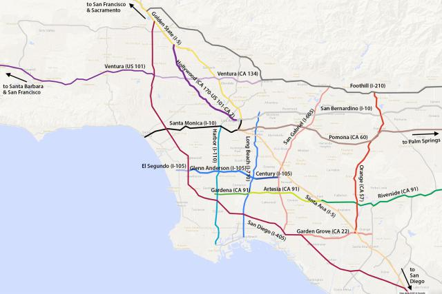 La Map Freeway