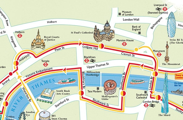Landon Tourist Street Map