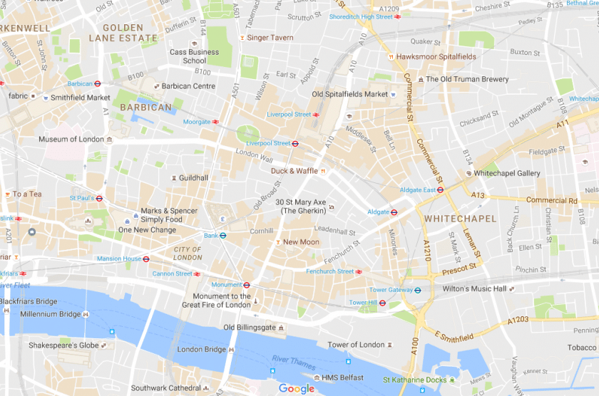 London City Map Google