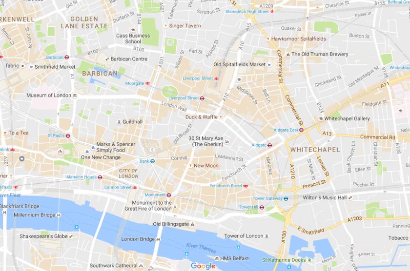 London City Map Google