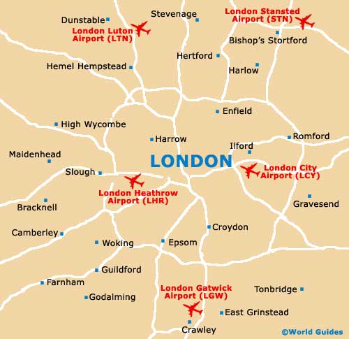 London Map Airport
