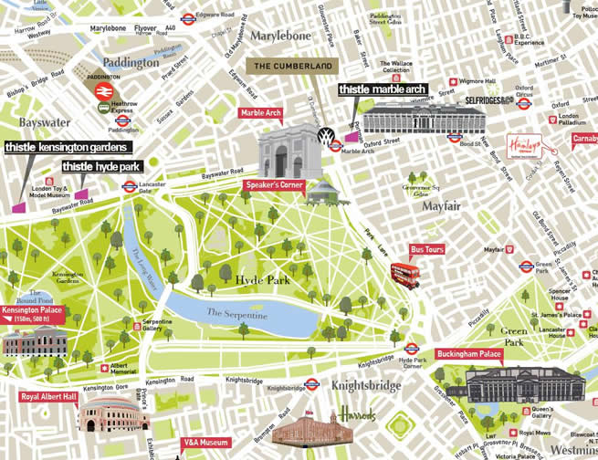 London Map Cartoon