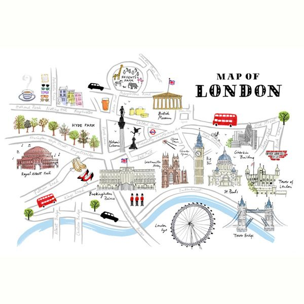 London Map Drawing