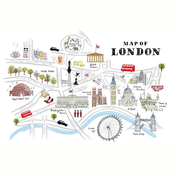 London Map Drawing