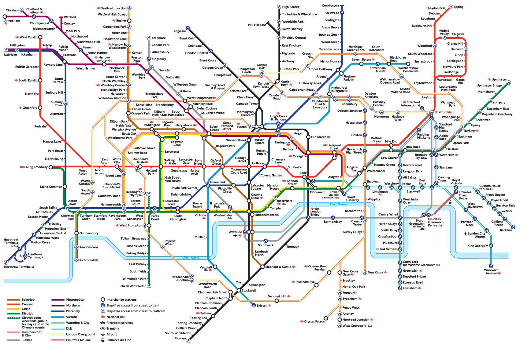London Map Underground