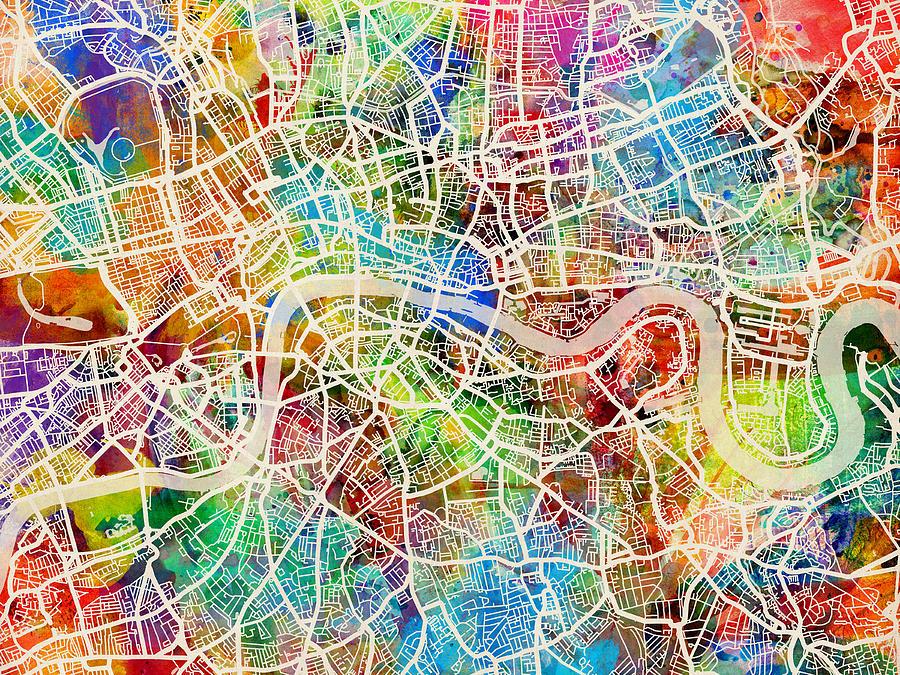 London Street Map Art