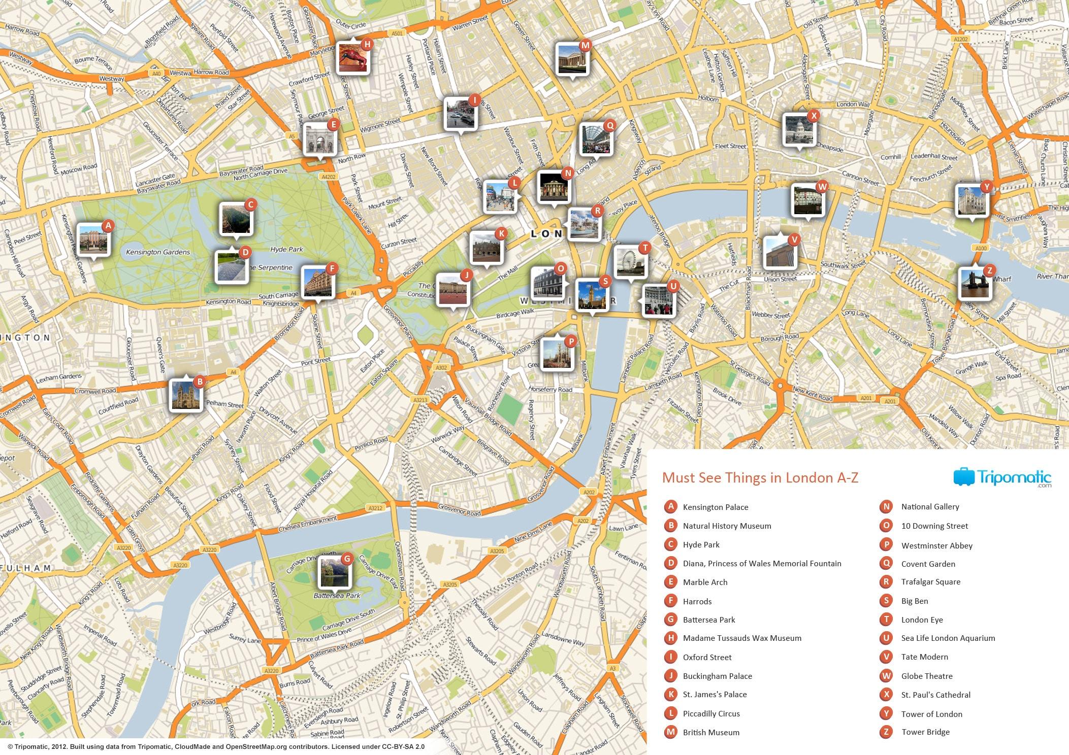 London Street Map Download