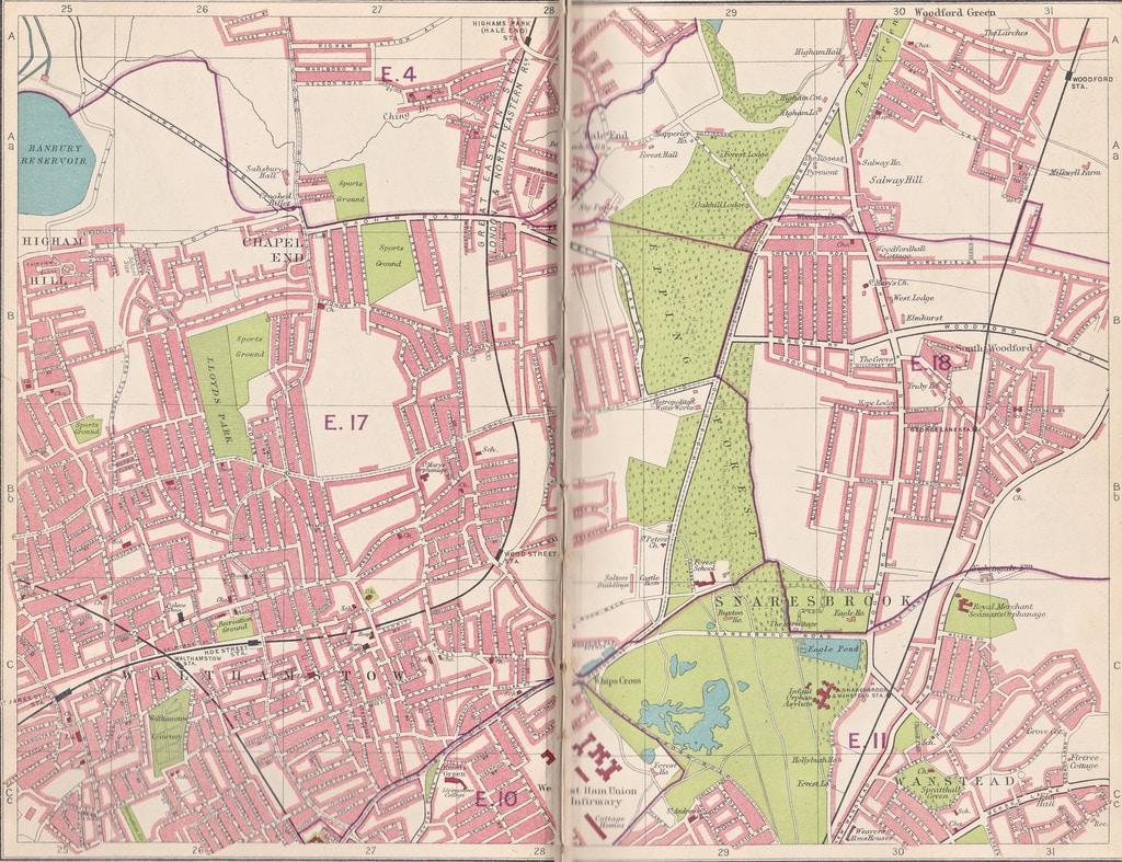 London Street Map North