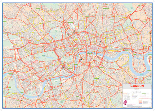 London Street Map Printable