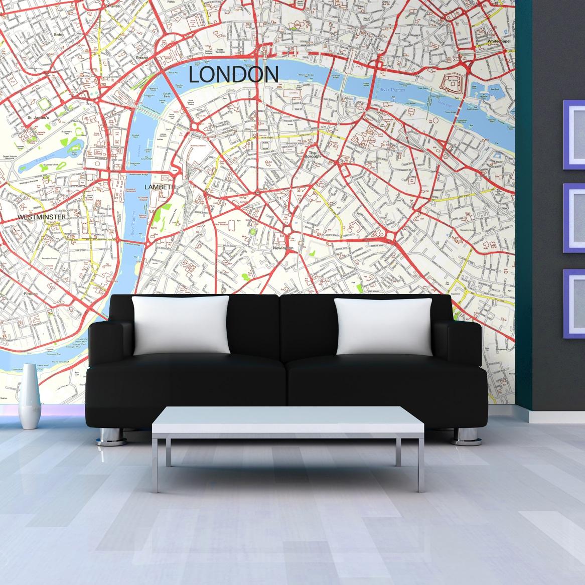 London Street Map Wallpaper