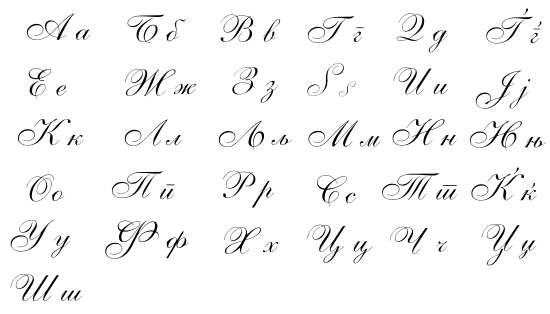 Macedonian Alphabet Letters