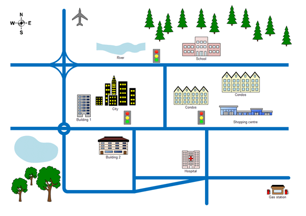 Map Directions Clipart