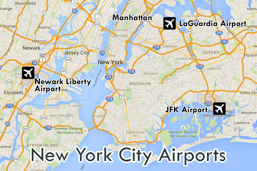 Map NYC Airport