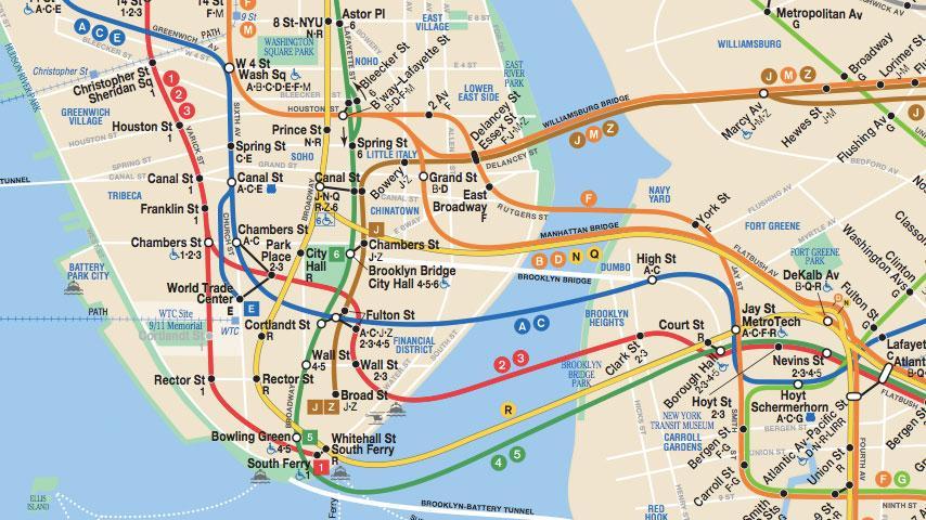 Map NYC Metro