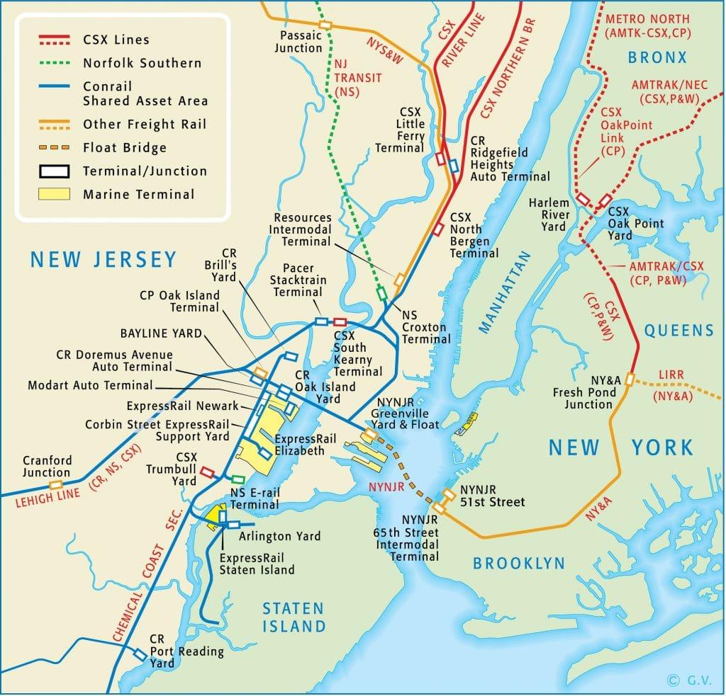 Map NYC Train