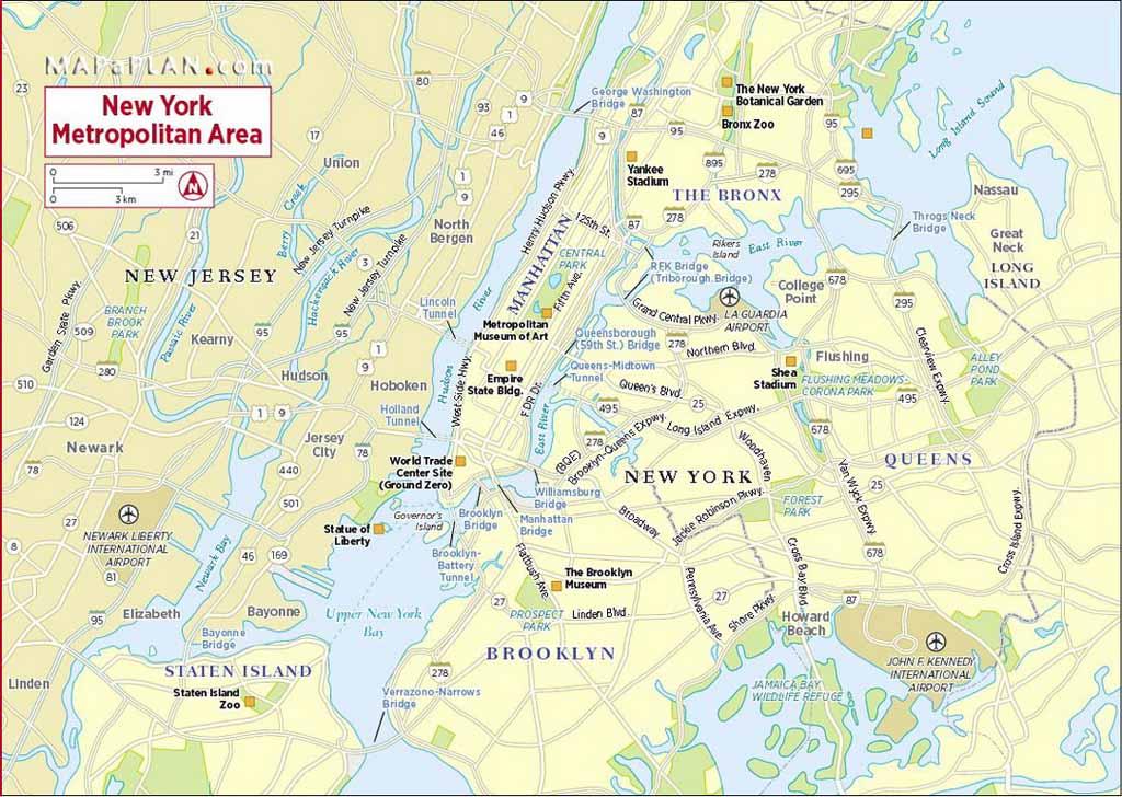 Map New York City Areas