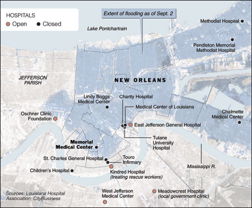Map New York City Hospitals