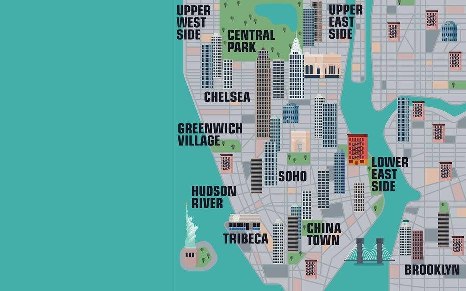 Map New York City Landmark