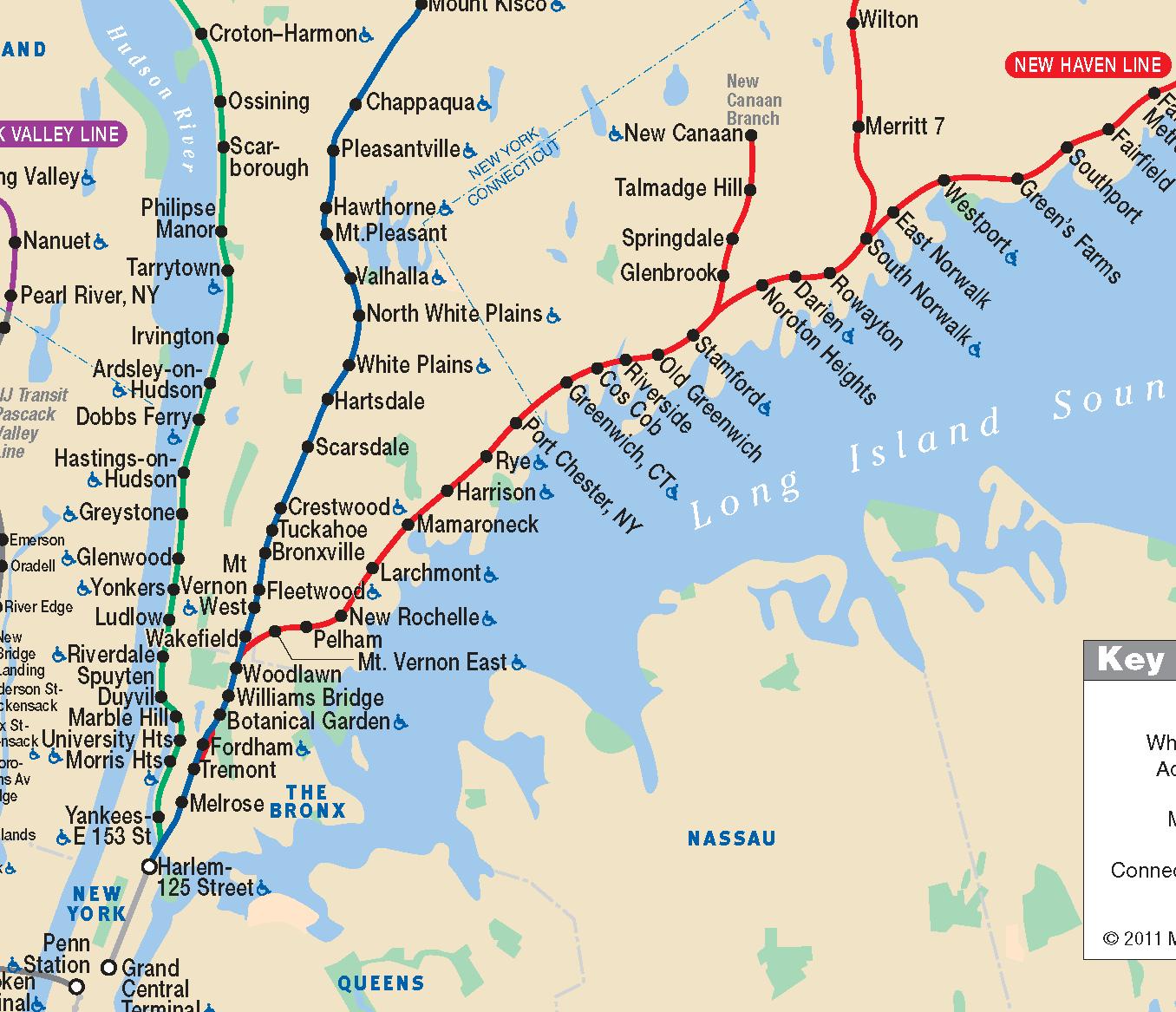 Map New York Metro