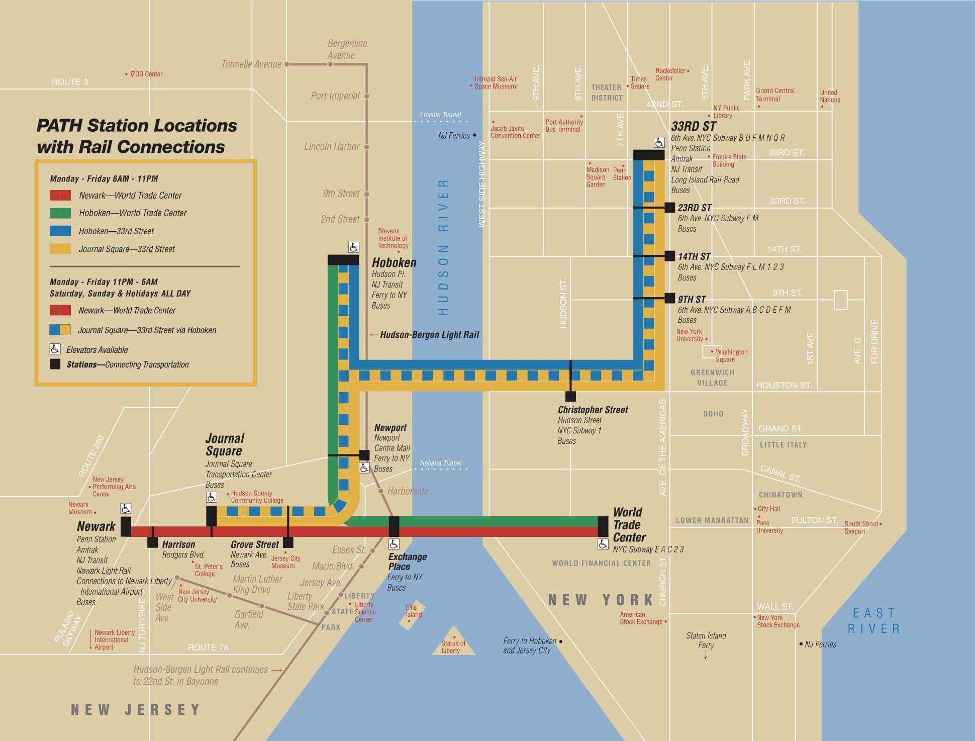 Map New York Train