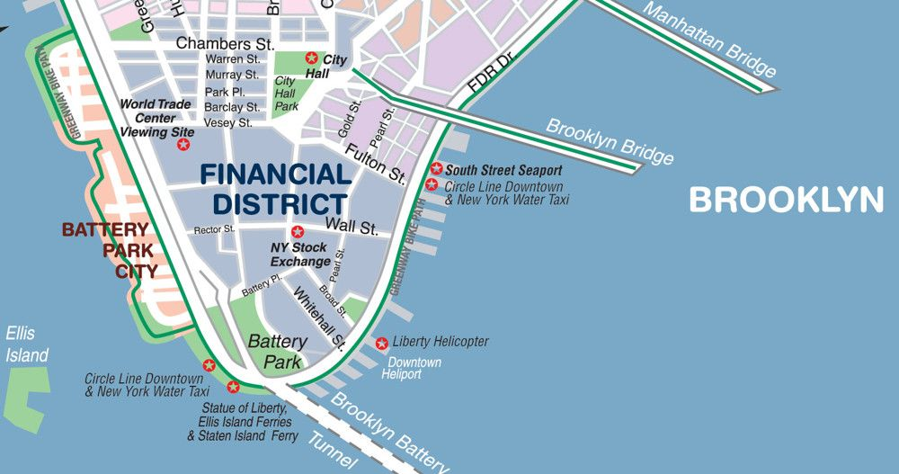 Map Of New York City Downtown