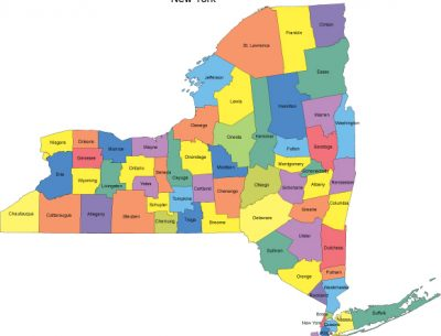 Map ny Counties